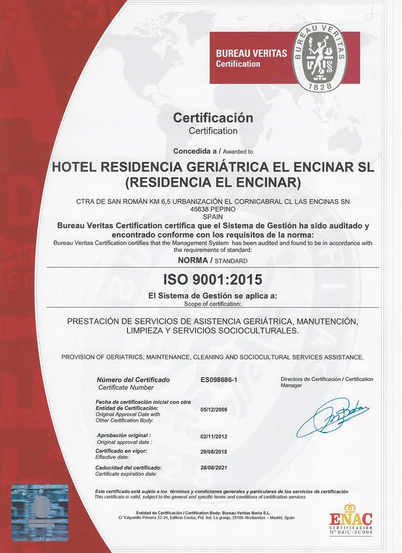 certificado-calidad-residencia-elencinar